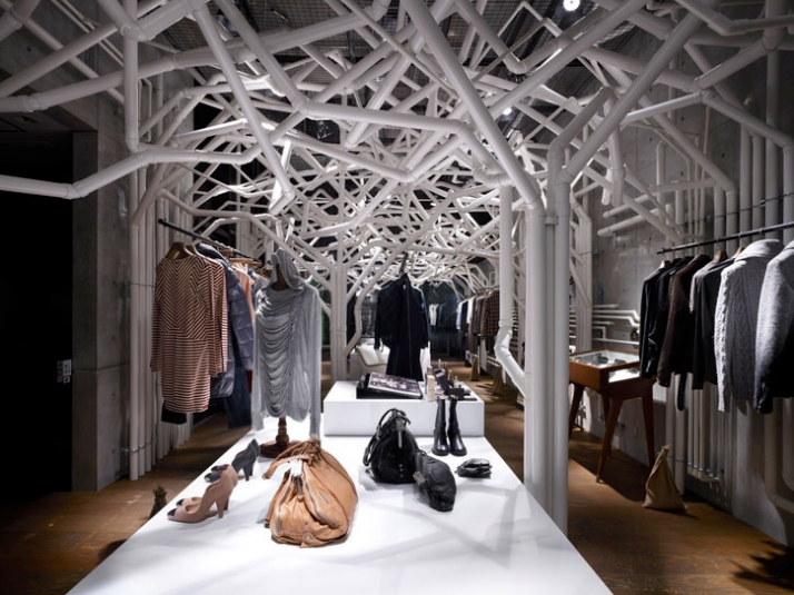 PVC Pipe retail design at Diesel Denim Gallery in Aoyama