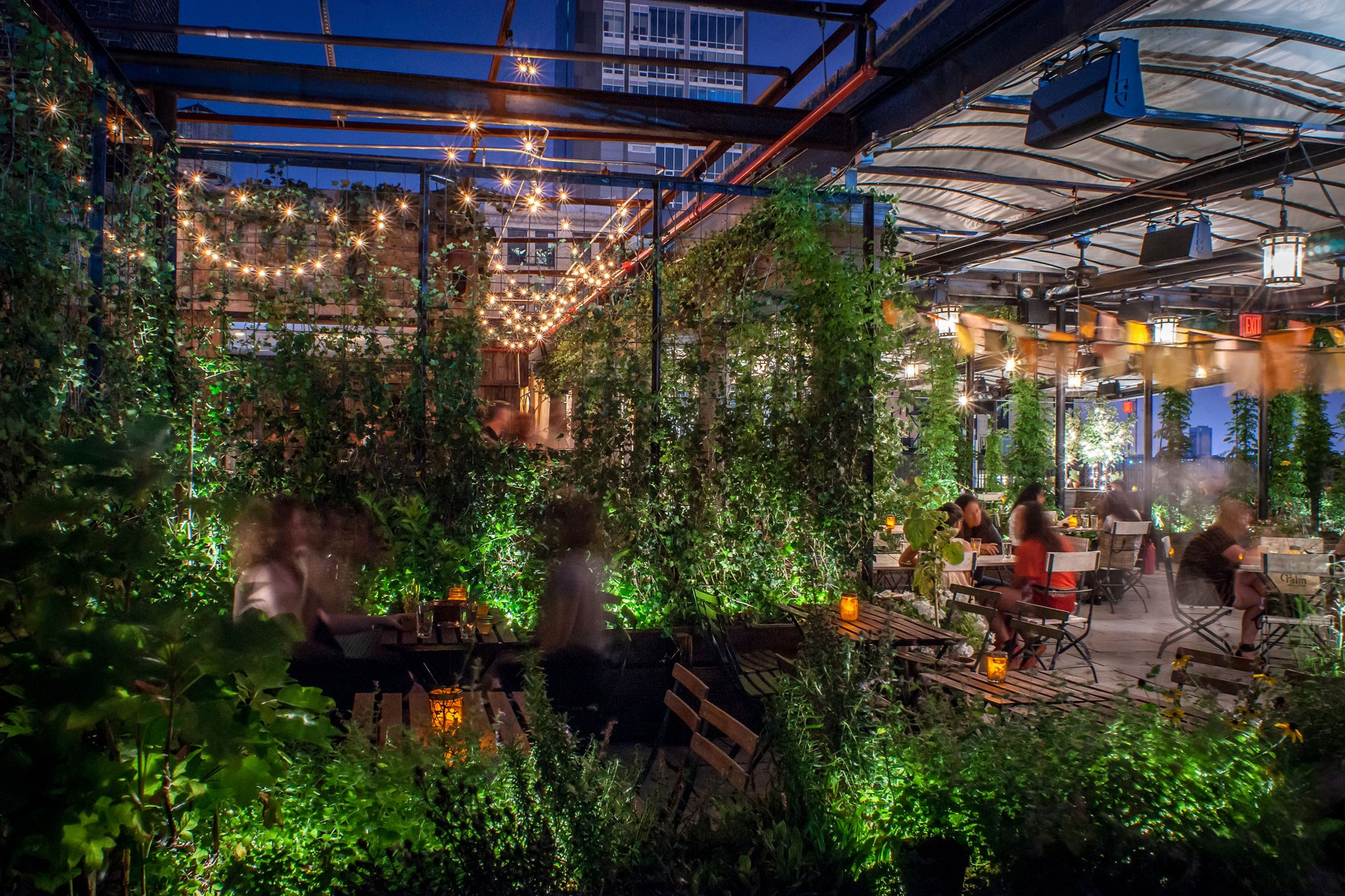 Gallow Green Roof Deck at The McKittrick Hotel in NYC adds plenty of green to the 'concrete jungle'.