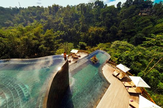 Ubud Hanging Gardens, Bali, Indonesia.  While technically not a