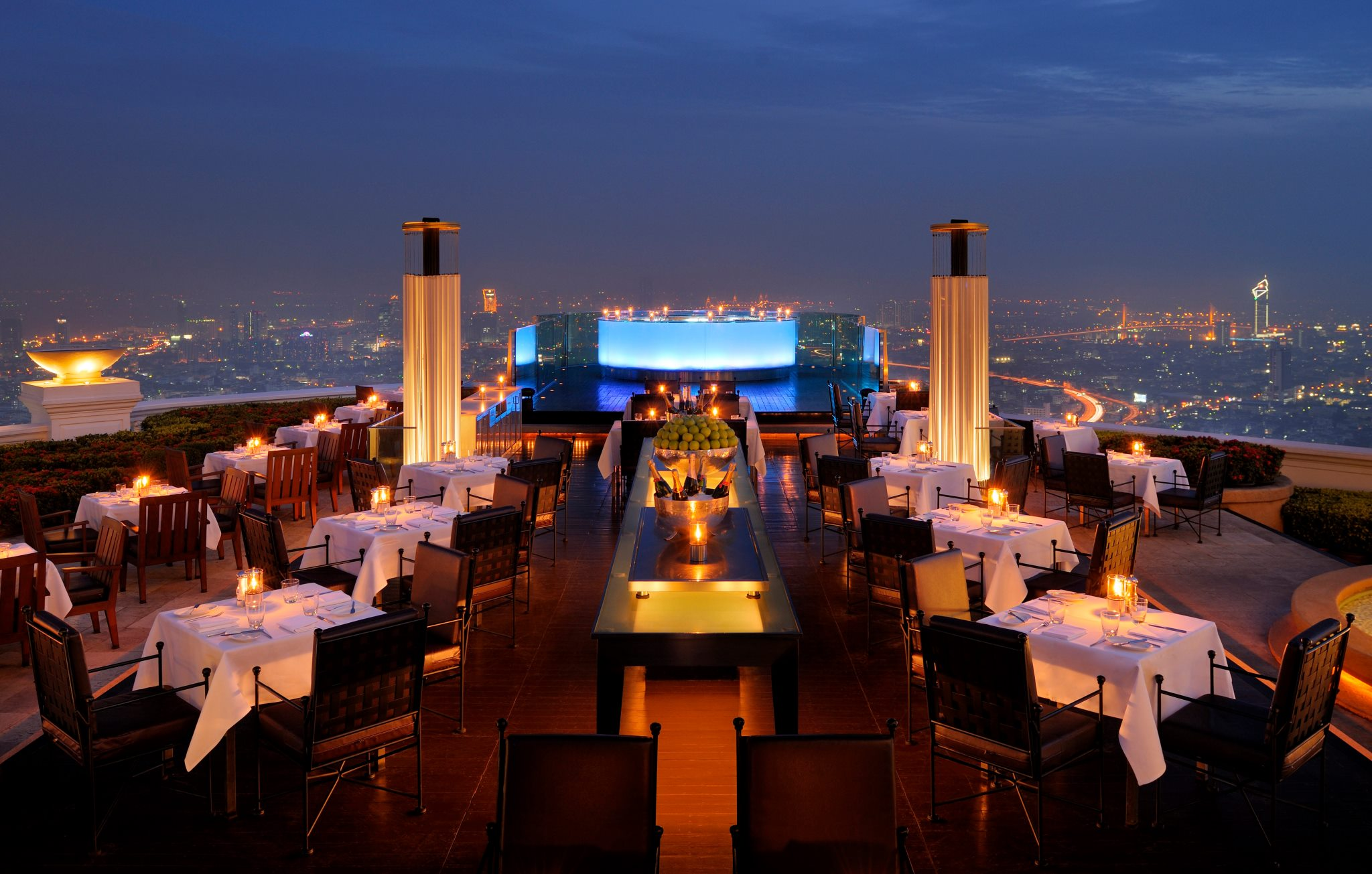 Vertigo & Moon Bar, banyan Tree Hotel, Bangkok, Thailand.  Hangover 2 anyone?
