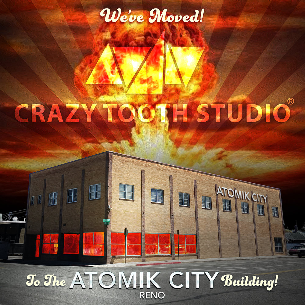 The Atomik City Building is located at 400 Mill Street in downtown Reno, Nevada.