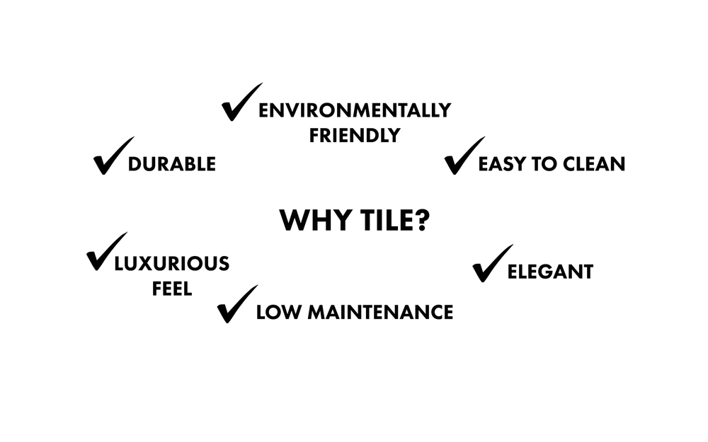 Why tile flooring? Infographic by Divine Hardwood & Stone