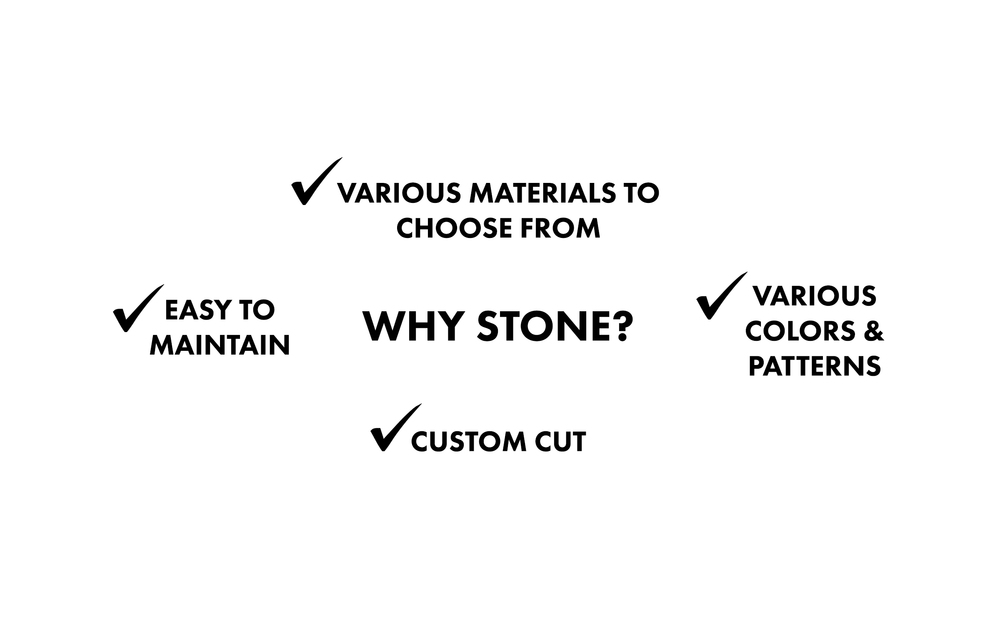 Why stone? Infographic by Divine Hardwood & Stone