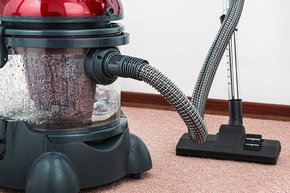 Vacuum, clean up after stone installation
