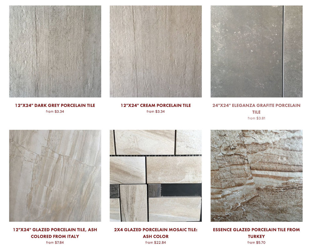 Image of Porcelain Tile on our Online Store