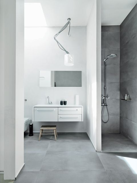 Concrete Flooring in Bathroom on  Pinterest
