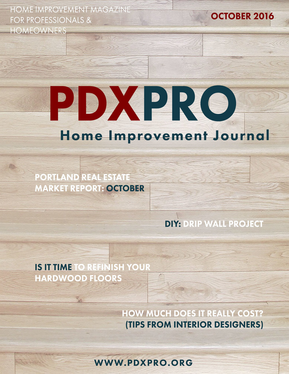 Front Cover of the PDXPRO Home Improvement Journal for October by Divine Hardwood & Stone