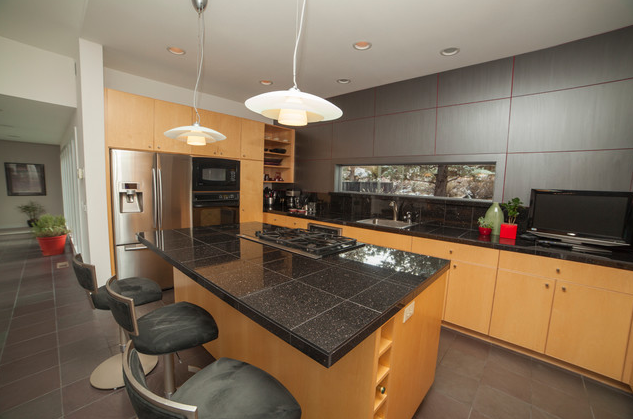 Granite Tile Countertop, found on  www.houzz.com