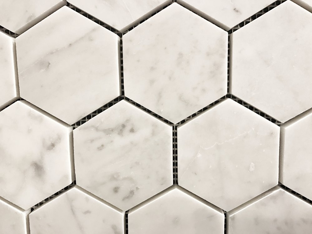 hex marble tile