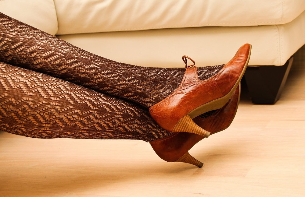 never walk in high heels on hardwood floors