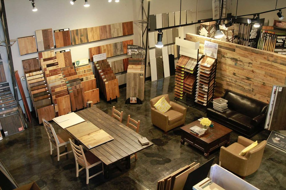 Portland Flooring Store Showroom, Divine hardwood & stone