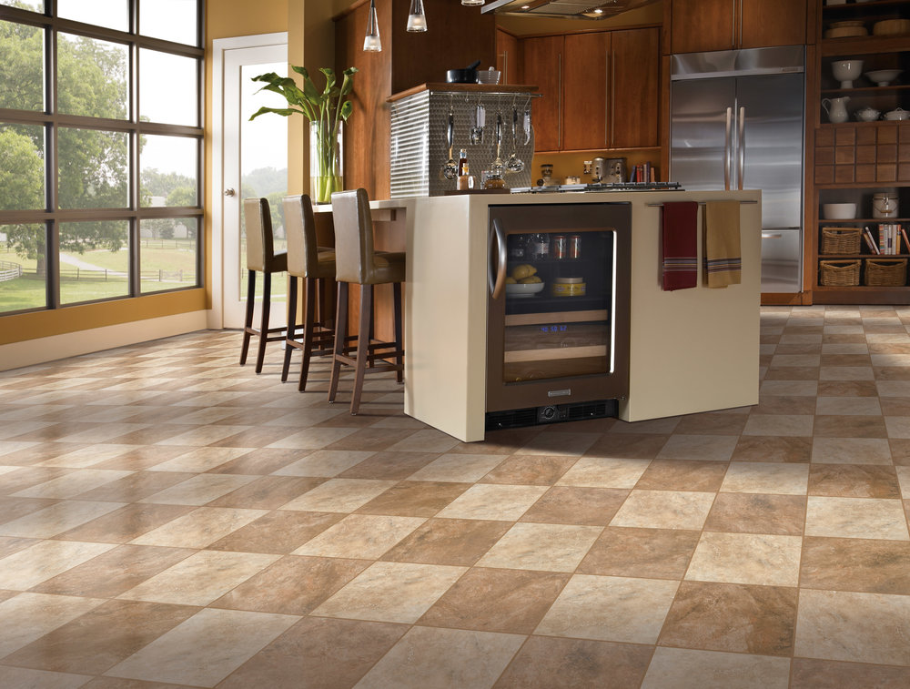 Luxury Vinyl Tile LVT Room Scene by Divine hardwood & stone