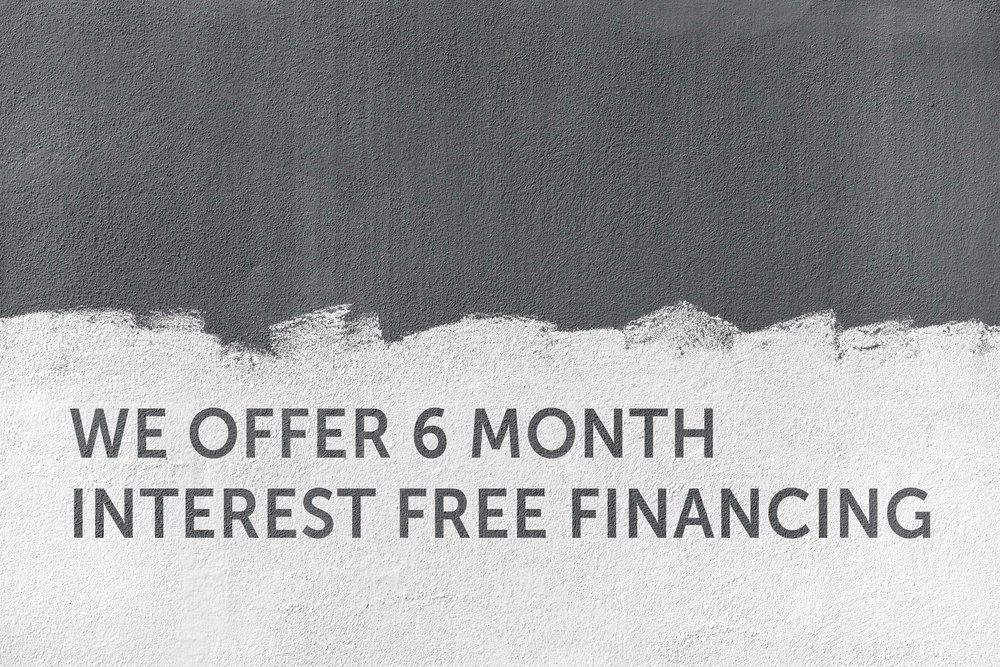 we offer 6 month interest free financing