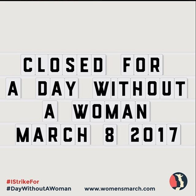#adaywithoutwomen #womemsmarch #march8 #resist #persist #persisterhood #wearred