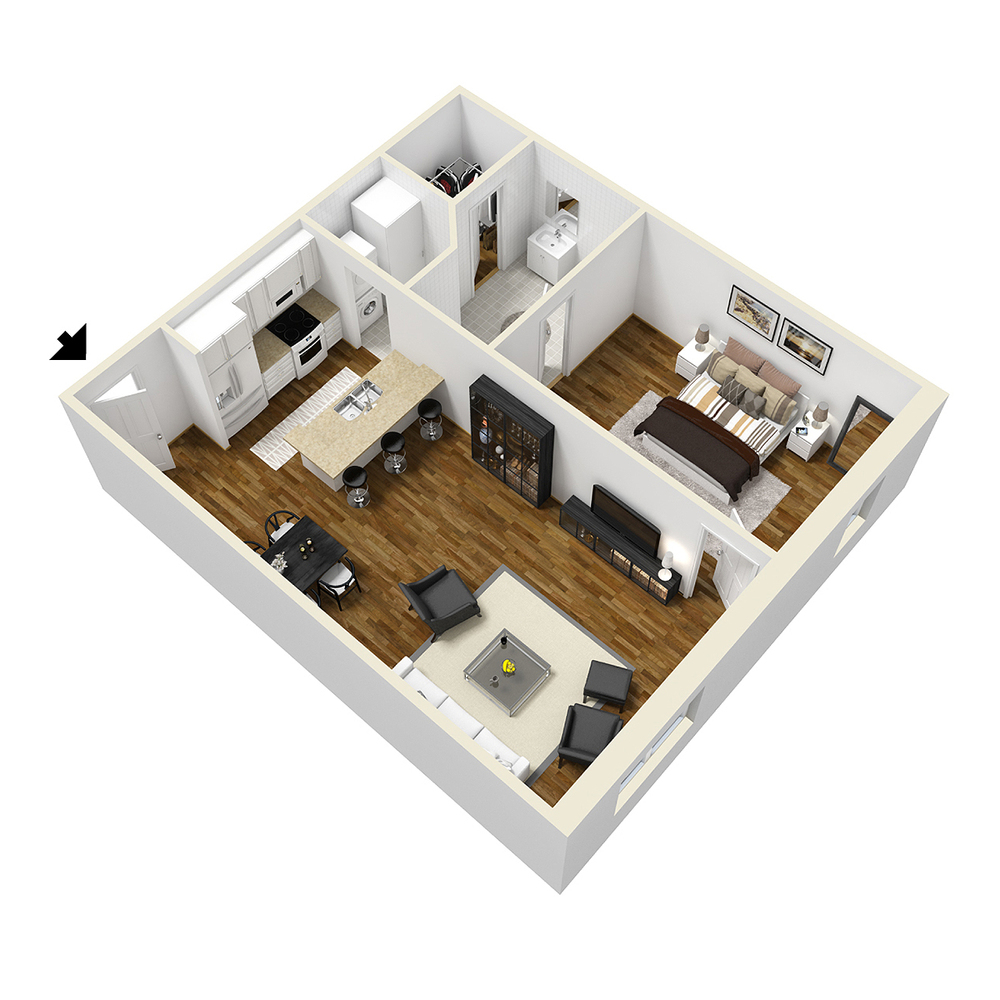 One room typical layout