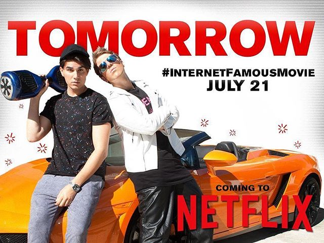 Tomorrow make plans to #netflixandchill with #InternetFamousMovie!