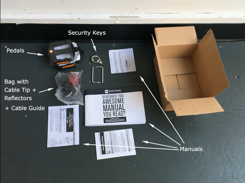 Identified Contents of the box