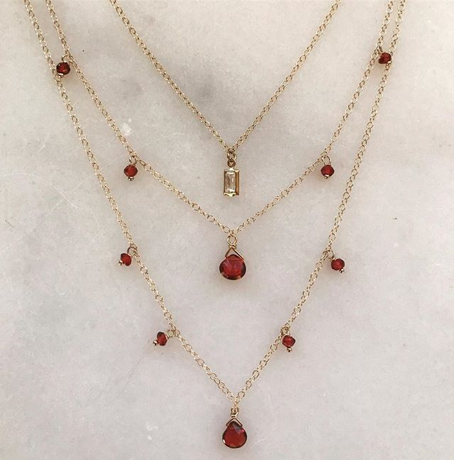 Layers of garnets for ❤️'s Day...
