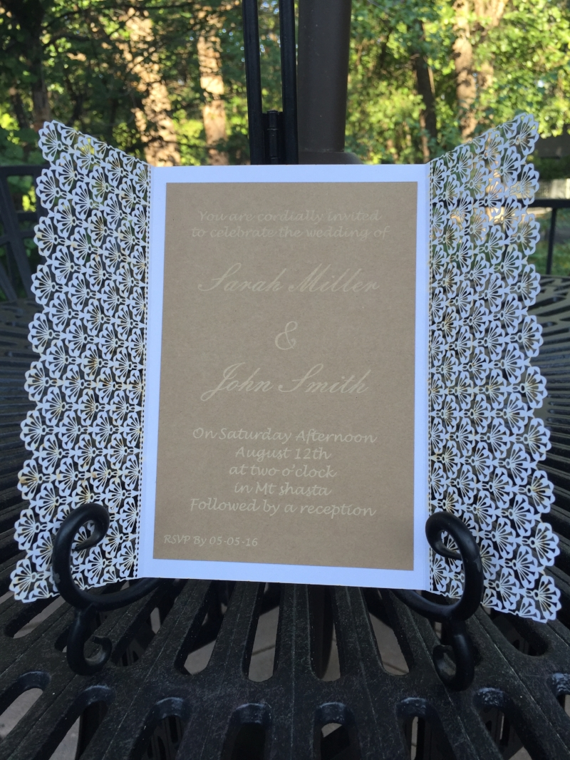 Custom Wedding Invitation Sample