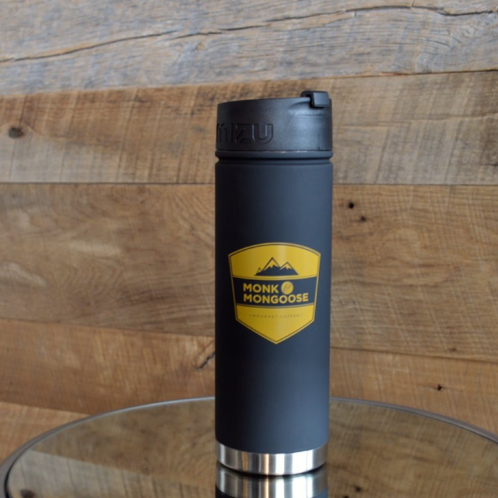Black badge travel mug