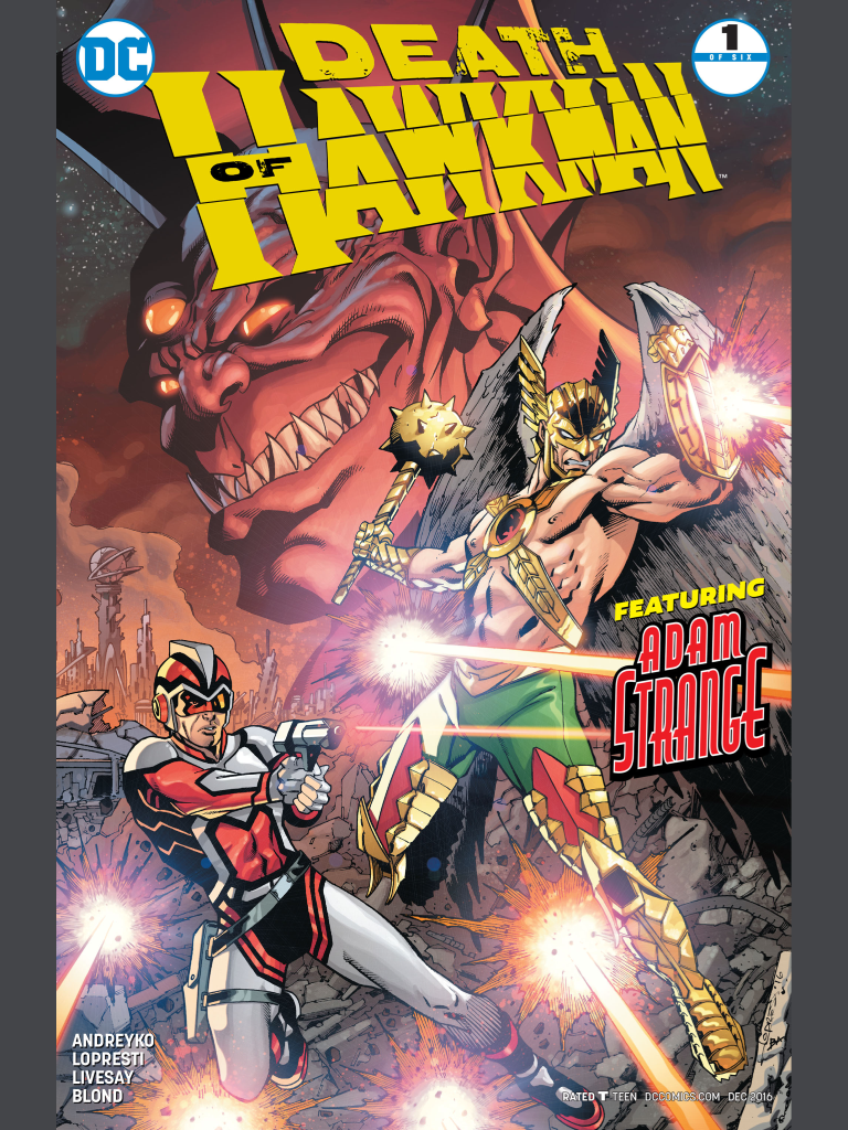 Death of Hawkman issue 1 featuring adam strange