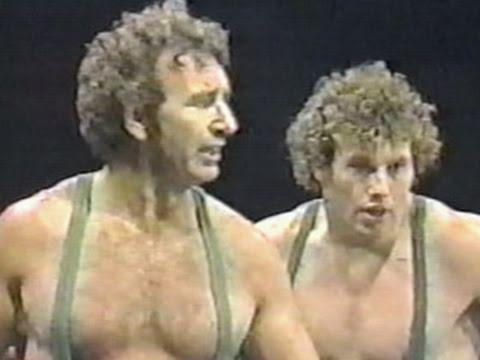 """Bullet"" Bob Armstrong and son Brad Armstrong"
