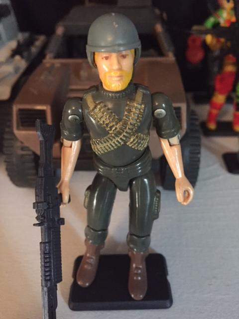 1982 G.I. Joe Machine Gunner Rock and Roll