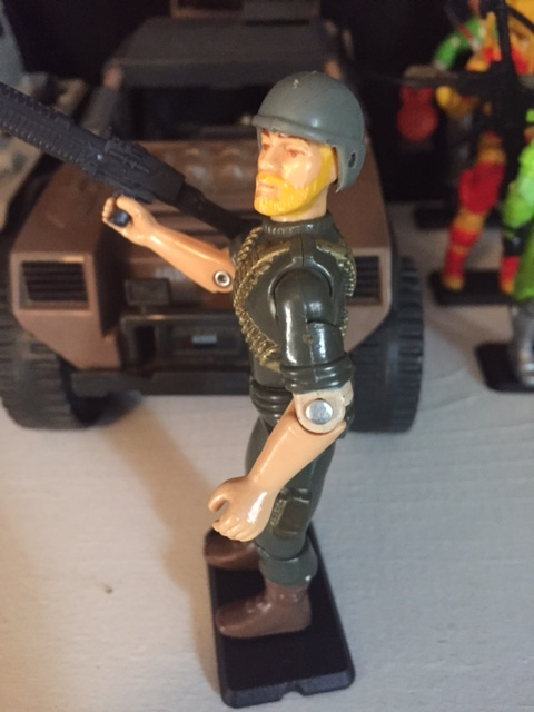Rock and Roll's unique chest sculpt helps him stand out from the other 1982-83 G.I. Joe Figures