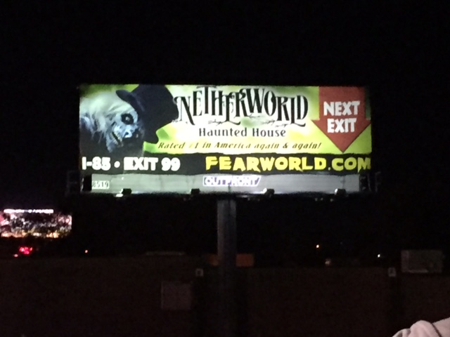 Netherworld Haunted House off of I-85 near ATlanta, GA