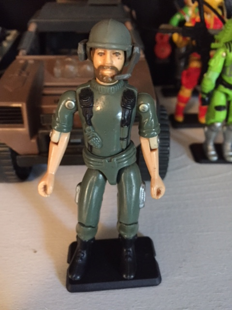 G.I. Joe 1982 straight arm communications officer - breaker