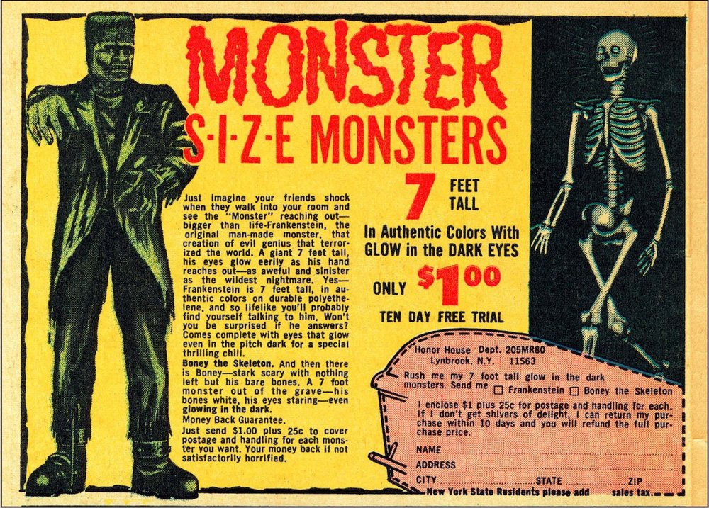 famous monster size monsters from the comic books.