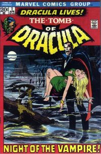 marvel comic's 1970's Tomb of Dracula series.