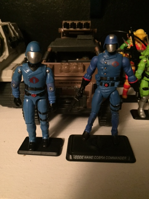 Cobra commander's 25th anniversary update is really detailed and modifies a few things about his uniform.  the top part of his helmet is also DETACHABLE leaving a metal silver head underneath.