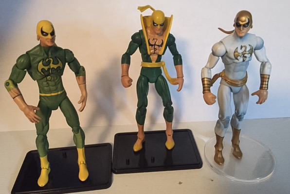 Immortal iron fist, classic iron fist, white and gold iron fist