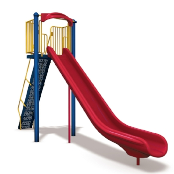 Slide! There's something fun about letting go and sliding down a slide.  However, back when it was cool we didn't have the nice safe plastic slides... no.  we had these metal, jagged, 150 degree bright metal death slides.  you not only had the thrill of sliding but also the challenge of surviving with all your fingers and toes and without 3rd degree burns.