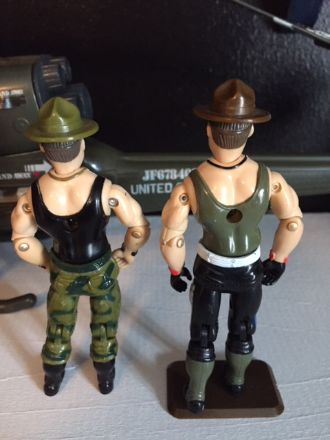 Sgt. Slaughter back.  the figure did not come with a backpack.