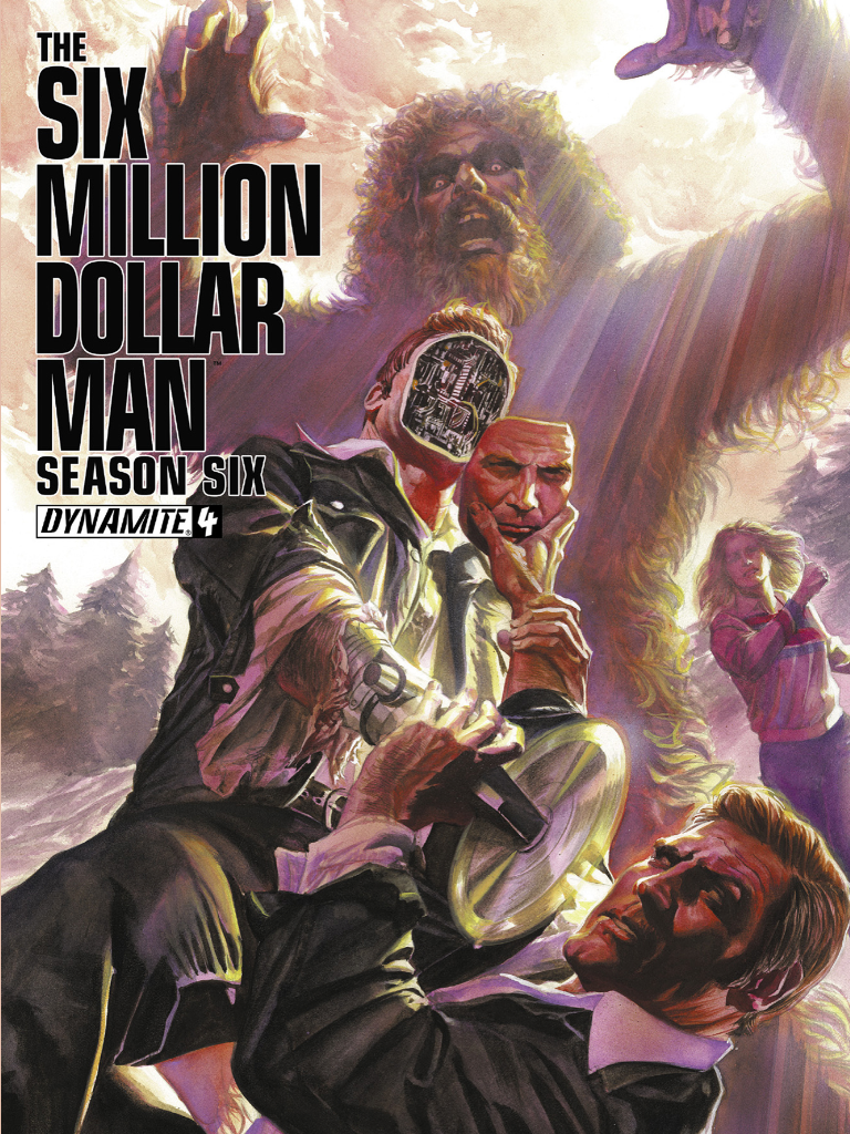 dynamite comics six million dollar man season six comic book featuring maskatron as the enemy.