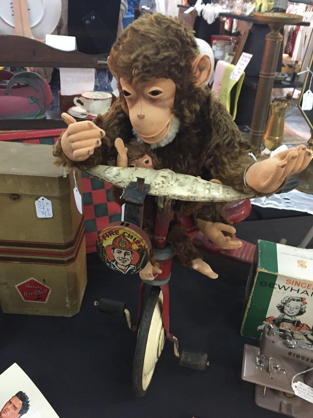 fire chief monkey on a tricycle.  'nuff said.
