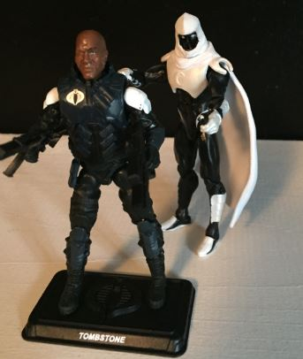 modern moon knight sneaks up on totally not tiny lister G.I. Joe figure for scale.