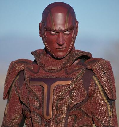 the live action version of red tornado as he appears in the wb series supergirl.