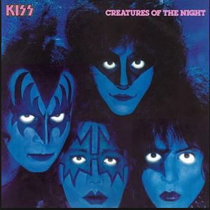 the original make-up clad creatures of the night album cover featuring space ace frehley on the cover... even though vinnie vincent was the new guitarist.   but wait, it gets worse for poor Vinnie V...
