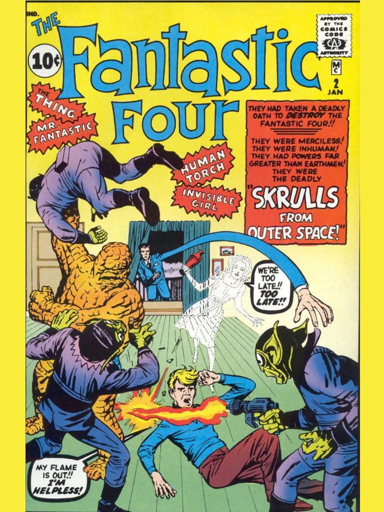 Reading the marvel universes in order - The Fantastic Four issue 2 (JANUARY 1962)