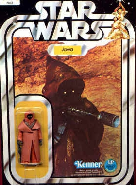 original carded jawa action figure by kenner.