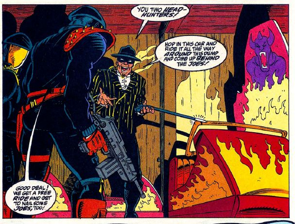 In issue 125 of Marvel's G.I. Joe: A Real American Hero, the Headman is again depicted in a somewhat slapstick nature.