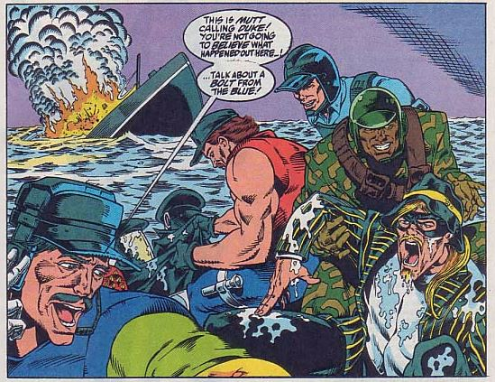 The last time we see The Headman in the Marvel comics series he is comedically getting pulled out of the ocean after his ship was sank.