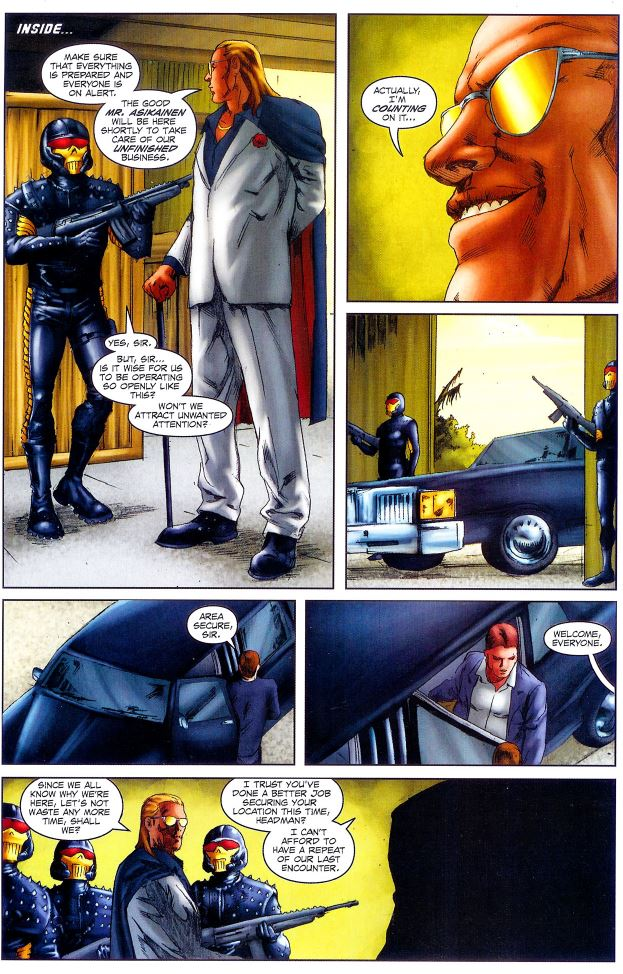 During the devil's Due G.I. Joe Special Missions: Brazil issue, the Headman gets a new suit and loses the hat and mask.  The Headhunters get an unneeded and regretable update.