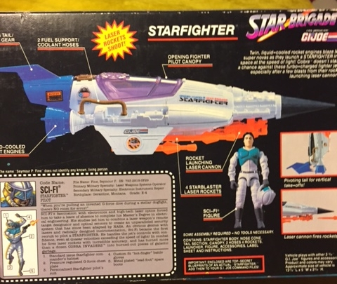 Be back of the box is detailed and shows the working missile launcher and file card.