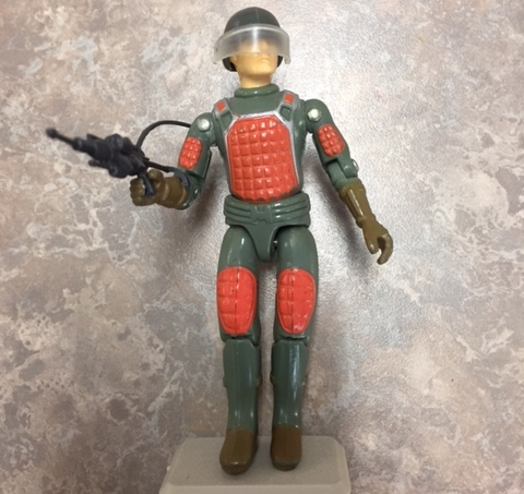 1982 G.i. Joe straight arm laser rifle trooper.  code name:  flash