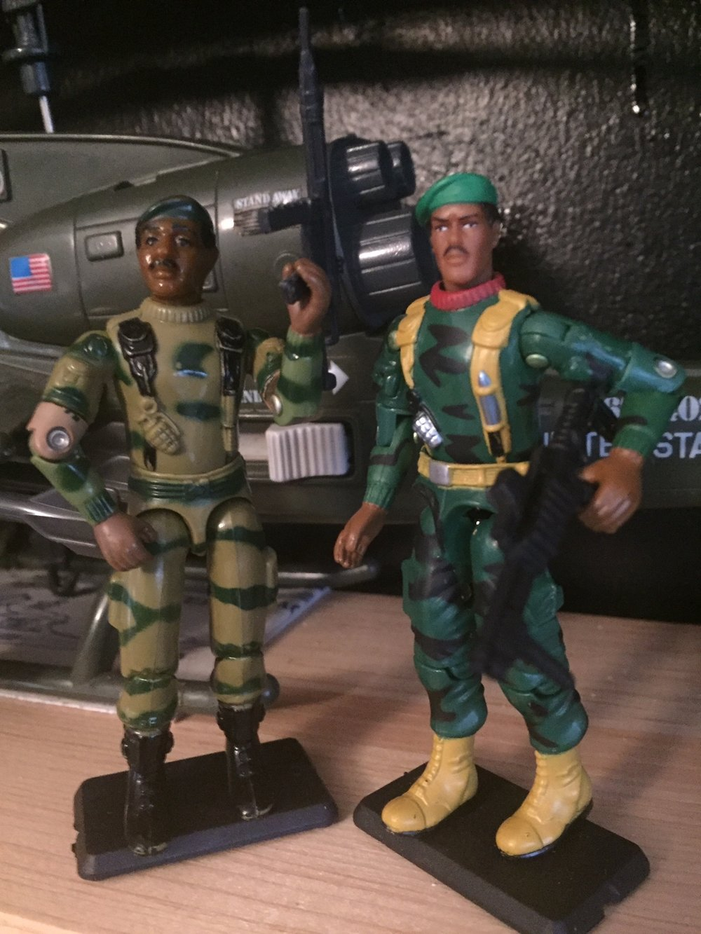 G.I. Joe Stalker (1983) and an updated version from 2005 from the when it was cool collection