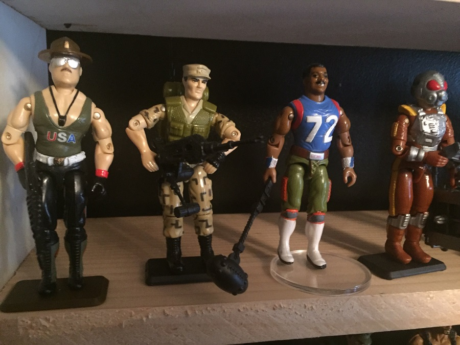 "G.I. Joe  Sgt. Slaughter  (1985),  Repeater  (1988),  The Fridge  (William ""REFRIGERATOR"" Perry ) (1986), Charbroil (1988) from the When it was cool collection"